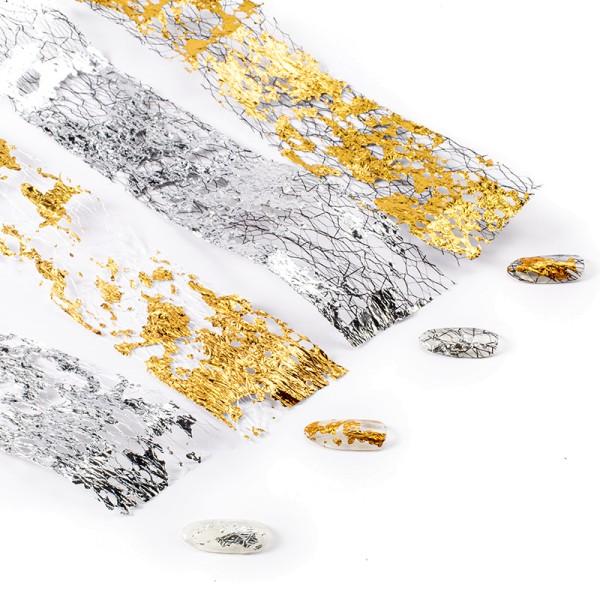 JUSTNAILS Folien Box gold silber Muster