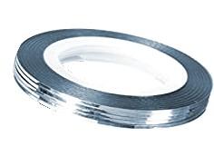 JUSTNAILS Stripe silver light blue
