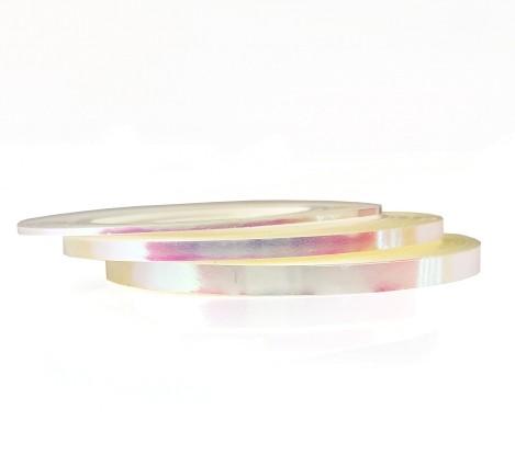 JUSTNAILS Irisierende Stripes transparent Set