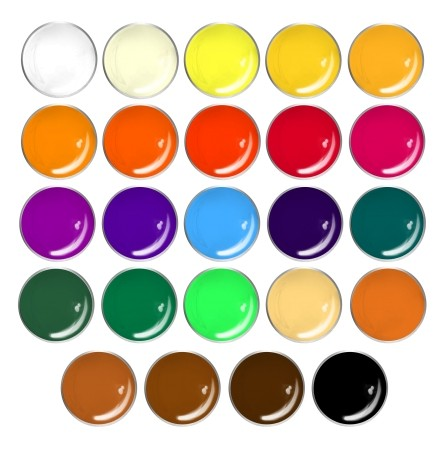 JUSTNAILS Premium Acrylmalfarben SET 24 x 12ml
