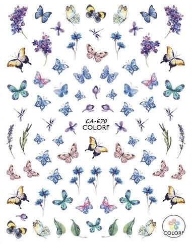 JUSTNAILS 3D Schmetterling Butterfly Sticker selbstklebend - 01