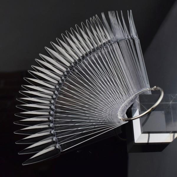 JUSTNAILS Display Tips Stiletto 40Stk. transparent