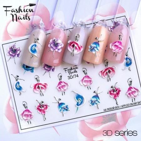 JUSTNAILS 3D/74 Wraps Fashionnails