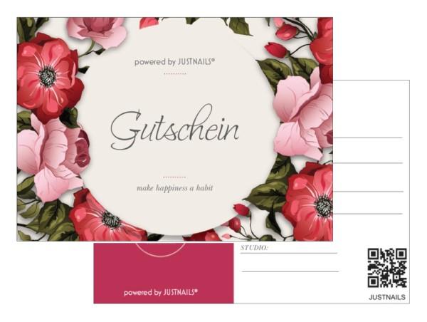 5x Geschenkgutschein Studio 01 Blumen