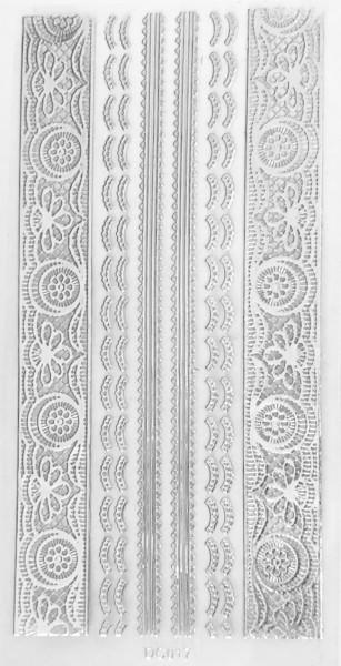 Sticker selbstklebend silber DC017
