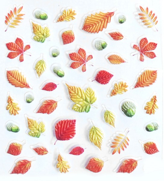 JUSTNAILS 5D Sticker selbstklebend Herbst Blätter 2